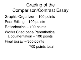 writing comparison contrast  18 grading of the comparison contrast essay