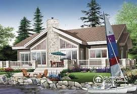 House Plan W3942 Detail From DrummondHousePlanscomLake Front Home Plans