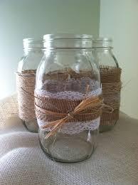 Mason Jars Decorated With Twine Set of 100 Mason Jars burlap twine lace by JarsByJade on Etsy 95