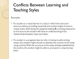 learning and teaching styles ppt video online  conflicts between learning and teaching styles