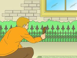image titled prepare a wrought iron fence for painting step 1