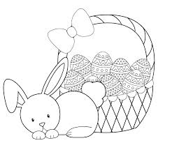 Easter Bunnies Coloring Pages Bunny Face Coloring Pages