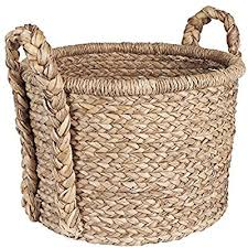 Large wicker basket Decorative Amazoncom Household Essentials Large Wicker Floor Storage Basket With Braided Handle Light Brown Home Kitchen Amazoncom Amazoncom Household Essentials Large Wicker Floor Storage Basket