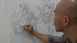 김정기 junggi kim drawing show in frankfurt book fair 2018