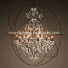 large pendant lighting fixtures. north european style big orb industrial cage crystal chandelier large hanging light pendant lighting fixtures cz2518 b