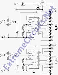 stereo led power vu meter lm3915n 1 circuit diagram world figure 1