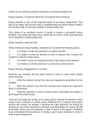 003 Essay Example Heading Thatsnotus