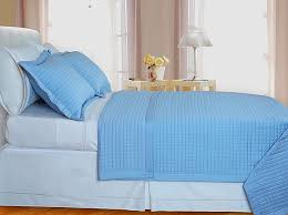 lit blue checd coverlet set 3pc egyptian cotton 400 thread count full queen size