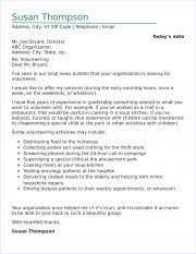 Sample Volunteer Letter Volunteer Cover Letter Sample