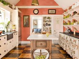 Bright Kitchen Color Scandinavian Kitchen Decorated With Outstanding Decorative And