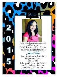 Print Graduation Announcement Cheetah Print Graduation Announcement 16 From Southern Desktop Publishing