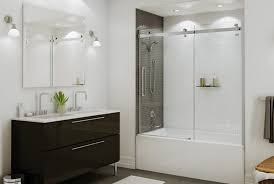 bathtub shower doors frameless