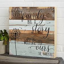 personalized rustic reclaimed wood wall art family story 19699 on customized wooden wall art with family story 12x12 personalized reclaimed wood wall art for the home