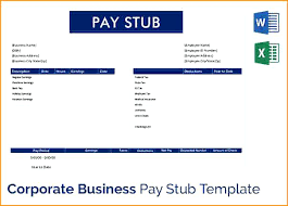 Paycheck Stub Layout Blank Pay Stub Template Word Free Templates For Excel And Choose
