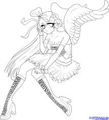 Anime Angel Girl Coloring Pages Get Coloring Pages