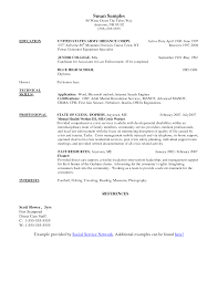 Cover Letter Resumes For Social Workers Example Resumes For Social