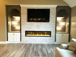 linear fireplace with tv above shock daringroom escapes interior design 1