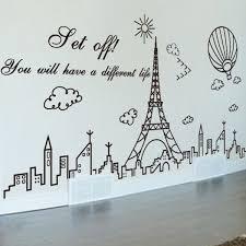 city buildings eiffel tower wall sticker