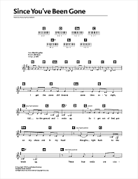 since you been gone sheet music since youve been gone noten von rainbow keyboard 48612