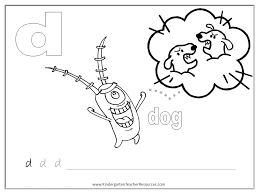 spongebob worksheets lowercase d letter d worksheets and activities on worksheet for small alphabets