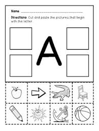 Kindergarten is the time to solidify knowledge of the alphabet and build on previous skills taught in preschool. Pre K Kindergarten A Z Phonetic Worksheets Identifying Cutting Letter Sounds