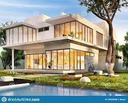 The Dream House With Swimming Pool Stock Photo - Image of country,  contemporary: 133359636