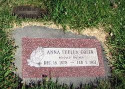 Anna Luella Walton Coler (1878-1952) - Find A Grave Memorial