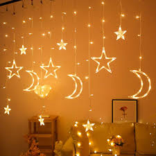 Fairy Lights Moon Us 9 48 30 Off 3 5m Moon Star Lamp Led String Lights Ins Christmas Lights Decoration Holiday Lights Curtain Lamp Wedding Lantern Fairy Light On