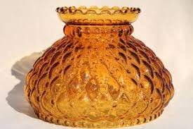 glass lamp shade vintage amber glass lamp shade quilted diamond quilt pattern lampshade stained glass lamp