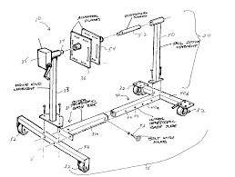 Engine stand patents ted williams 7 5 outboard motor fuel mixture small motor stand 35 hp evinrude outboard motor on outboard motor stand diagram