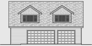house front color elevation view for cga 97 studio garage plans apartment over garage