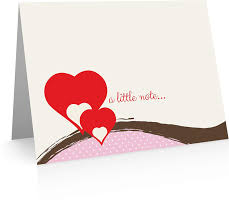 Hearts Note Card 24 Foldover Cards And Envelopes