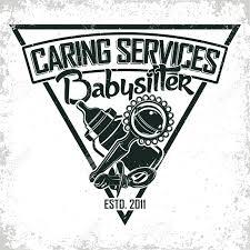 Babysitter Logo Vintage Logo Graphic Design Print Stamp Babysitter Typography
