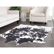 winsome design 5 x 6 rug contemporary safavieh faux hide brindle ft in area rug