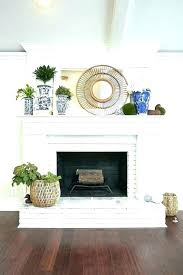 reface brick fireplace stacked stone surround ideas refacing painting cost to with veneer