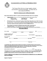 Clearance Certificate Sample Toronto Police Clearance Letter Sample Form Fill Out And