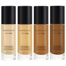 Bareminerals Original Foundation Colour Chart Bareminerals Barepro Performance Wear Liquid Foundation