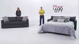 Sofa Bedroom Furniture Westport Sleeper Sofa Bobs Discount Furniture Youtube