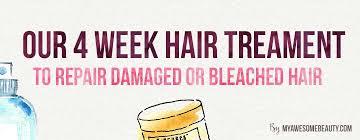 our 4 week hair repairing treatment to repair bleached hair
