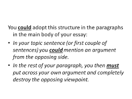 national discursive folio piece ppt video online  you could adopt this structure in the paragraphs in the main body of your essay