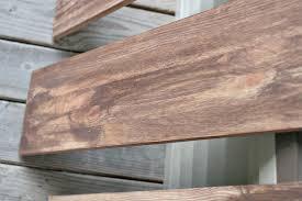 faux weathered wood shelves 2coats