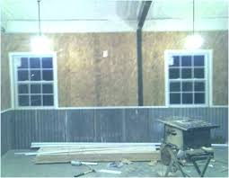 garage wall covering interior walls cover idea corrugated metal for panels