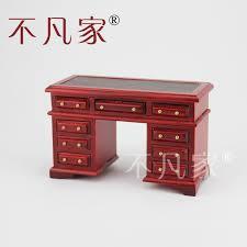 elegant office desk.  elegant dollhouse 112th scale miniature furniture hand elegant red office deskchina  mainland with office desk