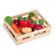 Cagette De 12 Légumes En Bois Janod King Jouet Cuisine Et Dinette