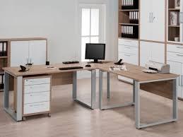 modern corner office desks. Wonderful Desks Harmony Large Corner Office Desk In Sonoma Oak Finish With Silver Metal  Feet By Maja On Modern Desks