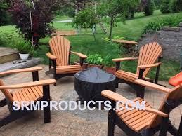 recycled plastic adirondack chairs. Model 100 Cedar/black Recycled Plastic Adirondack Chairs Two Tone