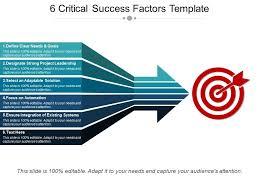 Ppt Backgorund 6 Critical Success Factors Template Ppt Background Designs