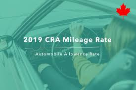 Irs Mileage Chart 2019 Cra Mileage Rate Canada Automobile Allowance Rate