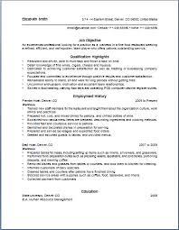 resume example waitress