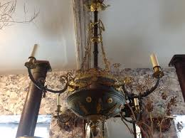 antique brass chandelier with glass shades made in spain chandeliers for